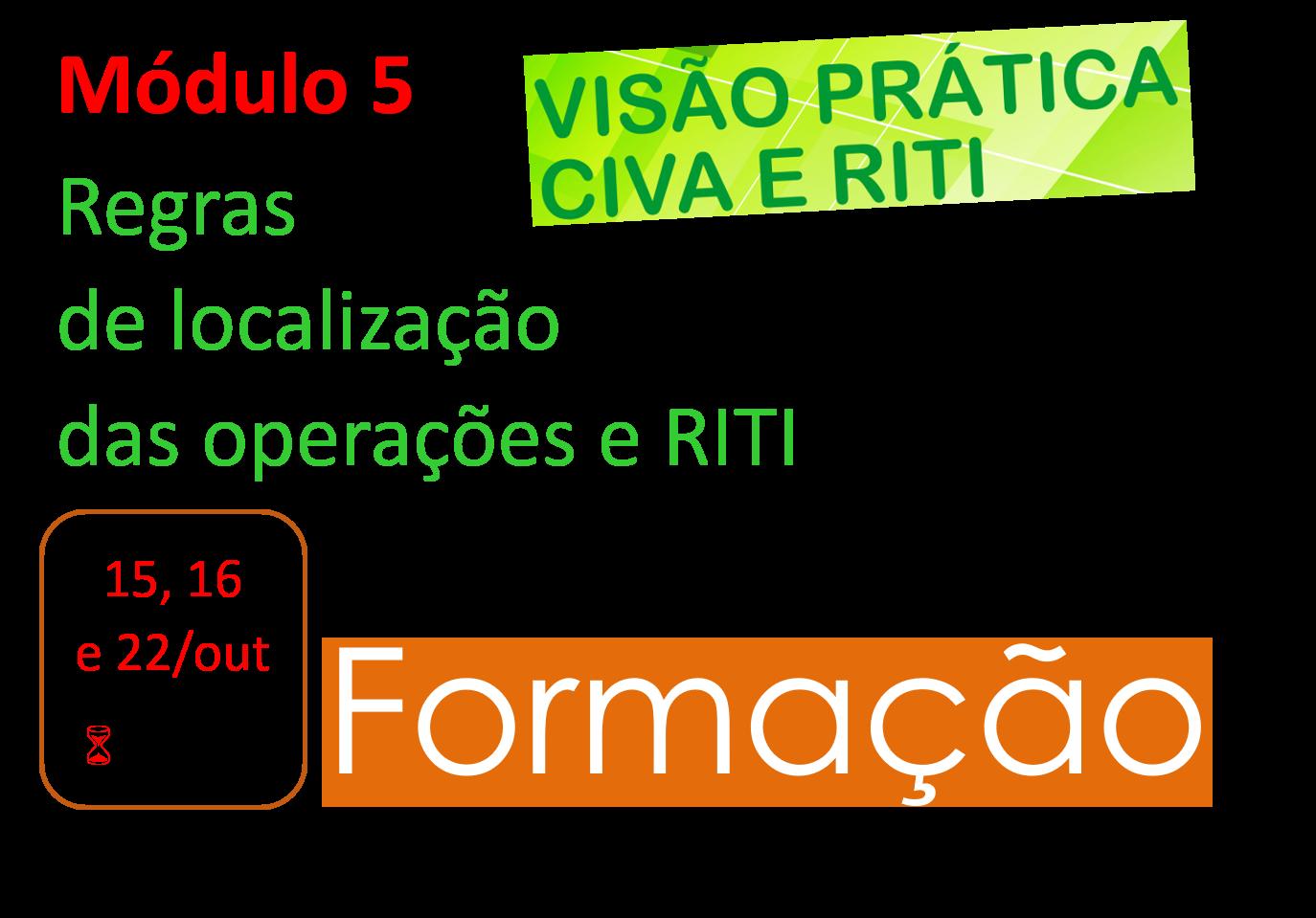 CIVA & RITI    Módulo 5 – Regras de localização das operações e RITI